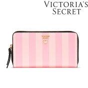 Victoria'sSecretヴィクトリアシークレットビクトリアシークレットビクシーヴィクトリアズシークレットショッパーデザイン長財布シグニチャーストライプショップバッグお札小銭入れカードポケットあり