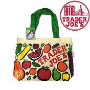 【メール便可】TraderJoe'sトレーダージョーズリユーザブルコットングロッサリートートバッグベジタブルズ野菜柄のエコバッグ大きめトートショッピングバッグトレジョー