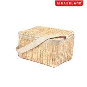 KIKKERLANDキッカーランドウィッカーランチボックスバッグピクニックバスケットのデザインの保冷可能なバッグ!