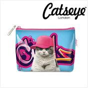Catseyeキャッツアイグラフィティキャットポーチ猫ヒップホップカバンの中に入れるポーチとしてちょうどよい大きさです