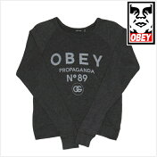 【送料無料】OBEYオベイOBEY89クルーニット薄手ハイゲージニットセーター