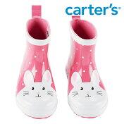 Carter'sカーターズバニー長靴うさぎレインブーツショート丈ピンクドット水玉模様キッズ/子供用女の子/男の子【再入荷なし/現品限り】