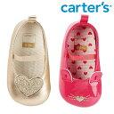 【SALE】Carter's カーターズ ベビー ストラップ バレー シューズ シャンパンゴールド ハート ピンク にゃんこ ファーストシューズ 靴 ベビー/キッズ/子供用 女の子お祝い プレゼント 子供靴 セール【再入荷なし/現品限り】