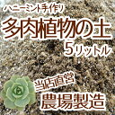 【当店農場生産】多肉植物&セダムの土 5リットル入1袋☆多肉植物が元気に育つ! 培養土