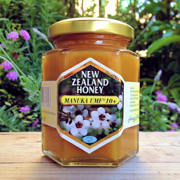 【送料無料&お試し価格】【楽天総合1位獲得】マヌカハニーUMF認定10 250g (一家族一回限り最大4ビンまで)  抗生物質をみつばちに与えない養蜂。 100%純粋非加熱マヌカハニー はちみつ