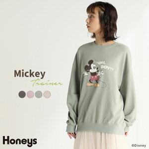 トレーナー レディース おしゃれ ディズニー 秋 冬 Honeys ハニーズ トレーナー(ミッキー)【WEB限定LLサイズ有】