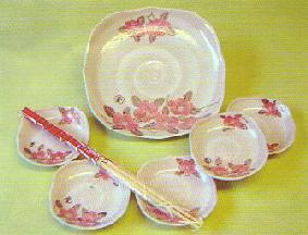 竹久夢二・大皿付きベリーセット