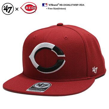 b系 ヒップホップ ストリート系 ファッション メンズ レディース キャップ 【B-DIGNL07WBP-RDA】 フォーティーセブンブランド 47BRAND シンシナティ レッズ コラボ CAP 帽子 ベースボール 赤 MLB メジャーリーグ アメカジ 正規品 ギフト