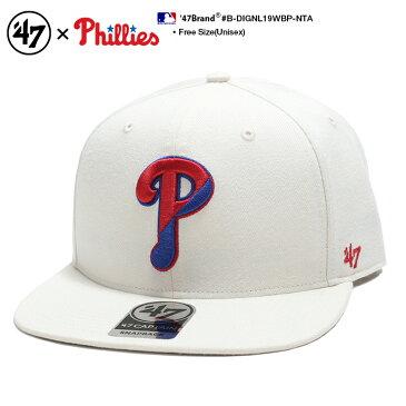b系 ヒップホップ ストリート系 ファッション メンズ レディース キャップ 【B-DIGNL19WBP-NTA】 フォーティーセブンブランド 47BRAND フィラデルフィア フィリーズ CAP 帽子 ベースボール 白 MLB メジャーリーグ アメカジ 正規品 ギフト