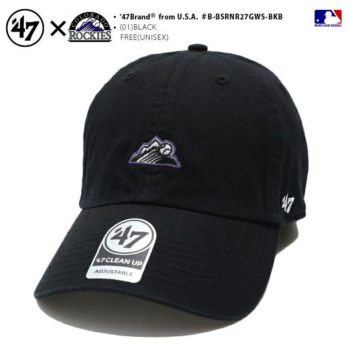 メンズ帽子, その他 47 MLB Rockies 47brand cap b B-BSRNR27GWS-BKB