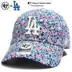 フォーティーセブンブランド 47BRAND 帽子 ローキャップ ボールキャップ CAP メンズ レディース 紺 b系 ヒップホップ ストリート系 ファッション ロサンゼルス ドジャース 薔薇 花柄 総柄 刺繍 かっこいい おしゃれ MLB 大リーグ メジャーリーグ ベースボール HAROL12MQS