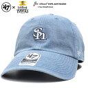 フォーティーセブンブランド 47BRAND 帽子 ローキャップ ボールキャップ CAP メンズ レディース インディゴライトブルー ストリート系 福岡ソフトバンクホークス シンプル ワンポイント 刺繍 ケミカルウォッシュ かっこいい おしゃれ NPB 日本プロ野球 NPB-ASHTN03DSSの商品画像