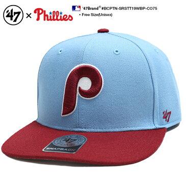 b系 ヒップホップ ストリート系 ファッション メンズ レディース ボールキャップ 【BCPTN-SRSTT19WBP-CO75】 フォーティーセブンブランド 47BRAND CAP 帽子 スナップバック ベースボール MLB メジャーリーグ フィラデルフィア フィリーズ 正規品 ギフト