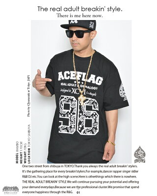 b系ヒップホップストリート系ファッションメンズレディースTシャツ【AF-TS-TS-007】≪96PAISLEYNUMBERINGTEE≫ACEFLAGエースフラッグ半袖クルーネックナンバーペイズリーフロントプリントMLXL2XL3XL大きいサイズあり白黒02P11Mar16