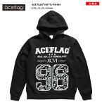 ACEFLAG【AF-TL-PA-004】ACEF-LAG#96首にタトゥーの様なスペードプリントブラック×ホワイトプルオーバーパーカー/大きいサイズB系ヒップホップセール通販フードパーカーかぶりパーカー(01)黒×白エースフラッグ02P23Aug15【楽ギフ_包装】