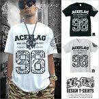 【まとめ割】【新品】ACEFLAGTシャツ#96ブラックホワイト2XLサイズXLサイズLサイズMサイズ【楽ギフ_包装】