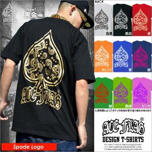 ストリート ファッション レディース Tシャツ スペード フラッグ ブランド