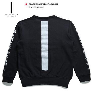 【送料無料】b系 ヒップホップ ストリート系 ファッション 服 メンズ レディース スウェット トレーナー 【BS-TL-SW-004】 ブラックスラム BLACK SLAM 萌え袖 ロングアーム ビッグシルエット 袖プリント S M L XL 2L LL 大きいサイズ 正規品 02P03Dec16【楽ギフ_包装】