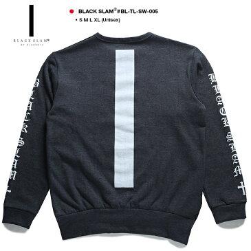 【送料無料】b系 ヒップホップ ストリート系 ファッション 服 メンズ レディース スウェット トレーナー 【BS-TL-SW-005】 ブラックスラム BLACK SLAM 萌え袖 ロングアーム ビッグシルエット 袖プリント S M L XL 2L LL 大きいサイズ 正規品 02P03Dec16【楽ギフ_包装】