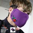 クラブノイズ ブラックスラム CLUBNO1Z BLACK SLAM かっこいい マスク メンズ 大きめ おしゃれ レディース 紫 紺 ゴールド 洗える布製 布マスク 3D立体縫製 薔薇刺繍 サイズ調整可能 モード系 b系 ヒップホップ ストリート系 ファッション ブランド ギフト BS-MK-CO-007