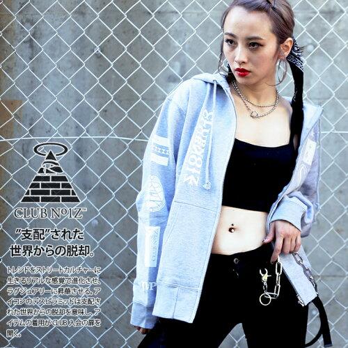 b系 ヒップホップ ストリート系 ファッション メンズ レディース パーカー CLUB NO1Z/クラブノイズ...