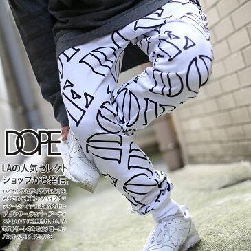 b系 ヒップホップ ストリート系 ファッション 服 メンズ レディース スウェットパンツ 【D0814-P433】 ドープ DOPE ジョガー ストレッチ パンツ オシャレ 総柄 80年代 HIPHOPスタイル LAブランド USAモデル S M L XL 2L LL 大きいサイズ 正規品 ギフト