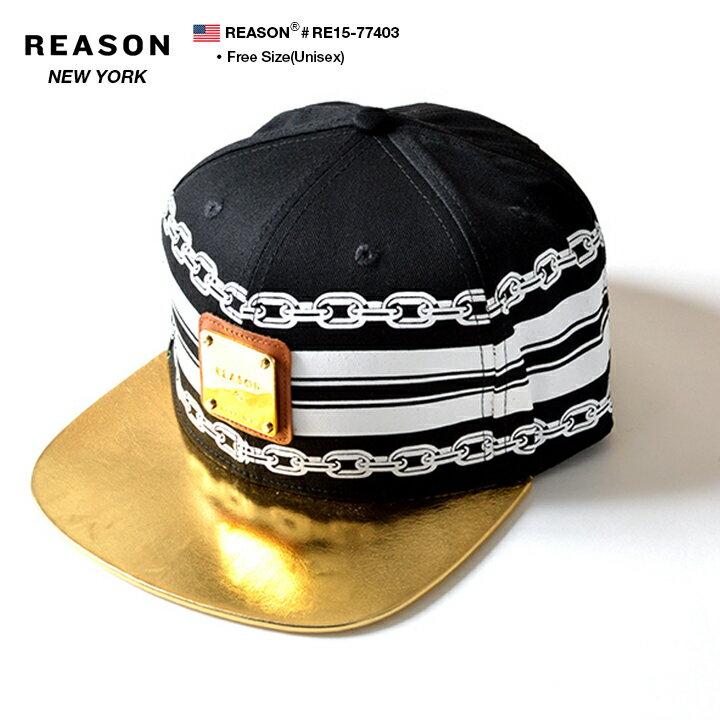 メンズ帽子, その他 b REASON RE15-77403GRECO CHAIN SNAP BACK CAP FREE OK