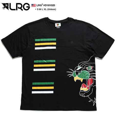 エルアールジー LRG Tシャツ 半袖 【D181025】 かっこいい ビッグシルエット ボックスロゴ レゲエ ライオン ジャマイカカラー 民族系 エスニック 黒 S M L XL 2L LL b系 ヒップホップ ストリート系 ファッション メンズ 大きいサイズ ギフト