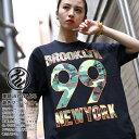 ロカウェア ROCAWEAR Tシャツ 半袖 【RW182T02】 かっこいい 名曲 99 PROBLEMS ブルックリン 総柄 オレンジ迷彩柄 黒白 ラッパー Jay-Z ジェイジー Mサイズ b系 ヒップホップ ストリート系 服 メンズ 大きいサイズ ギフト
