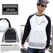 ストリート ファッション レディース ラグラン ブランド Tシャツ ペイズリー