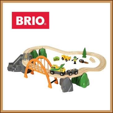 【ラッピング対応】4WDカーで森林へ!! BRIO(ブリオ)ランバーレールセット 木のおもちゃ 出産祝い 【BRIO ブリオ レールセット プレゼント】
