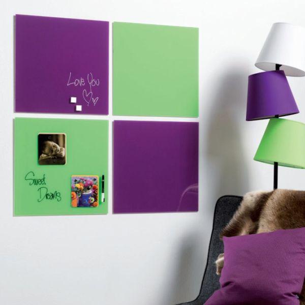 プレゼンテーション用品, 掲示板・コルクボード Magnetic glass board4545cm