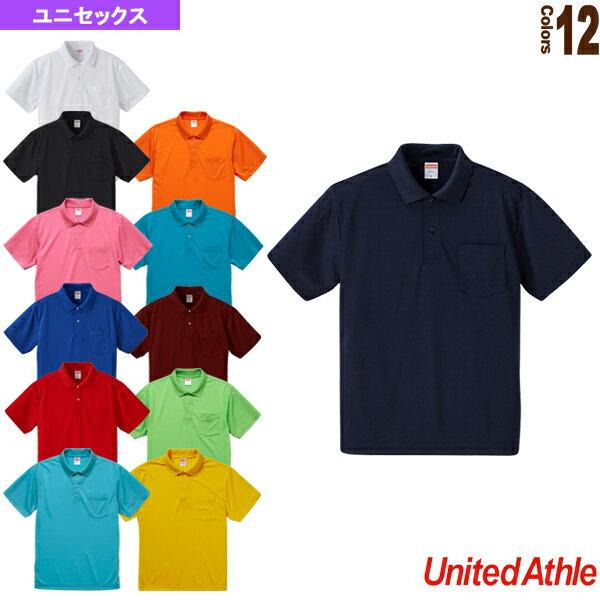 2abe09e48c51e 【5着以上より】4.1オンスドライアスレチック ポロシャツ/ポケット付/ユニ