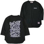ANIMALIA[アニマリア]7分袖テカムセベースボールTシャツ/BLACK