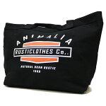 ANIMALIAアニマリア:キャンバストートバッグ/BLACK