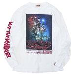 ANIMALIAアニマリア:長袖ストレンジャーTシャツ/WHITE