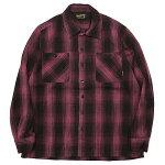 BLUCO[ブルコ]長袖オンブレーチェックヘビーネルシャツ/PURPLE