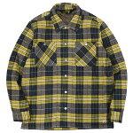 BLUCOブルコ:中綿キルティングシャツジャケット/YELLOW