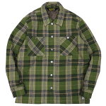 BLUCOブルコ:中綿キルティングシャツジャケット/OLIVE