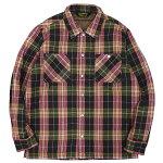 BLUCOブルコ:中綿キルティングシャツジャケット/PURPLE