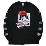 BLUCOWORKGARMENT[ブルコワークガーメント]長袖チョッパーTシャツ/BLACK