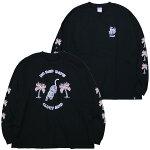 CLUCTクラクト:長袖タイガーTシャツ(ワイドシルエット)/BLACK