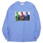 GRAVYSOURCEグレイビーソース:長袖タケシブラザーTシャツ/C.BLUE