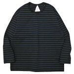 REMILLAレミーラ:9分袖ボーダーTシャツ/DARKNAVY×BLUE