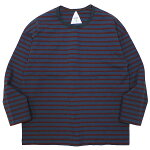 REMILLAレミーラ:9分袖ボーダーTシャツ/CHARCOAL×BORDE