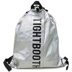 TIGHTBOOTHPRODUCTIONタイトブースプロダクション:ポリエチレンロゴナップサック/SILVER