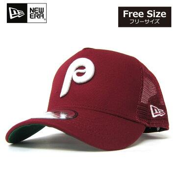 ニューエラ メッシュキャップ フィラデルフィア・フィリーズ クーパーズタウン【バーガンディー】NEW ERA D-FRAME TRUCKER MESH CAP ニューエラー 帽子ホワイトデー プレゼント