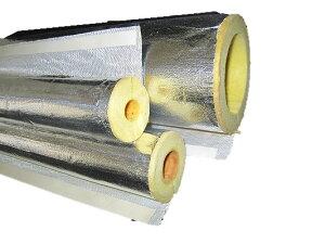 600℃の高温でも使用できるワンタッチMGカバー(吸音効果有)ロックウール保温筒(ALGC貼) 100A(内...