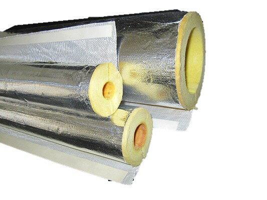 ロックウール保温筒(ALGC貼) 100A(内径114mm)*25mm厚*1m