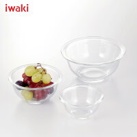 iwaki(イワキ)耐熱ボウル5点セット≪250ml,500ml,900ml×各1個≫PST-BO-20N